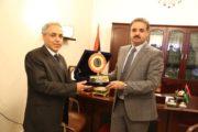 رئيس ديوان المحاسبة الليبي يجري زيارة لوزارة المالية والتخطيط بالحكومة الليبية المؤقتة